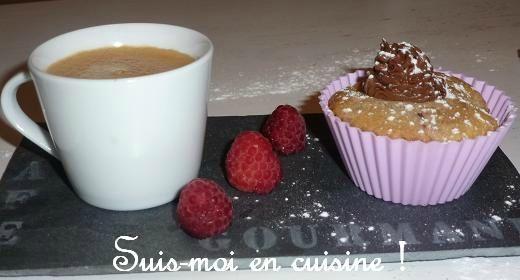 Muffins framboises dôme nutella 7